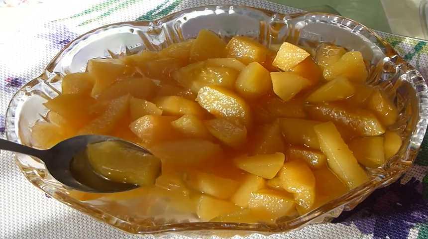 Варенье из айвы на зиму с лимоном и ванилью