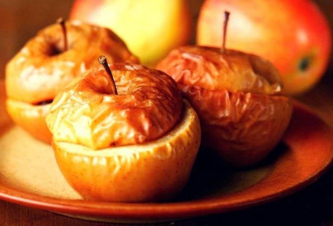 Польза и вред запеченных яблок, рецепт в духовке
