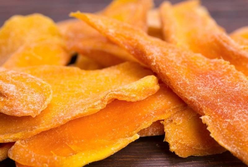 Польза и вред манго сушеного, вяленого