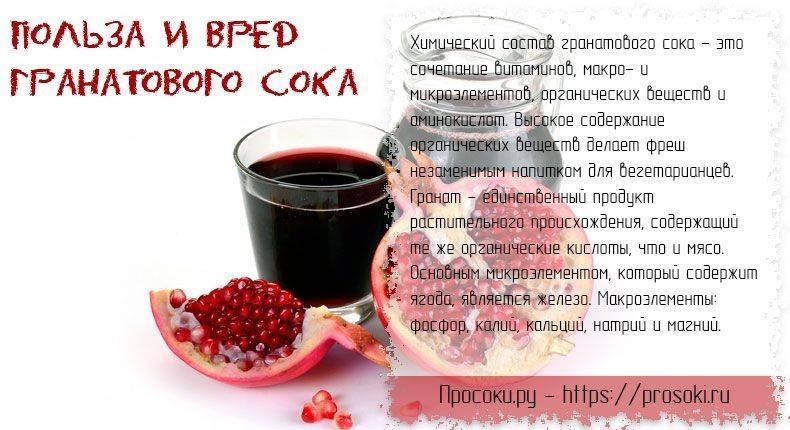 Гранатовый сок польза и противопоказания: 7 полезных свойства