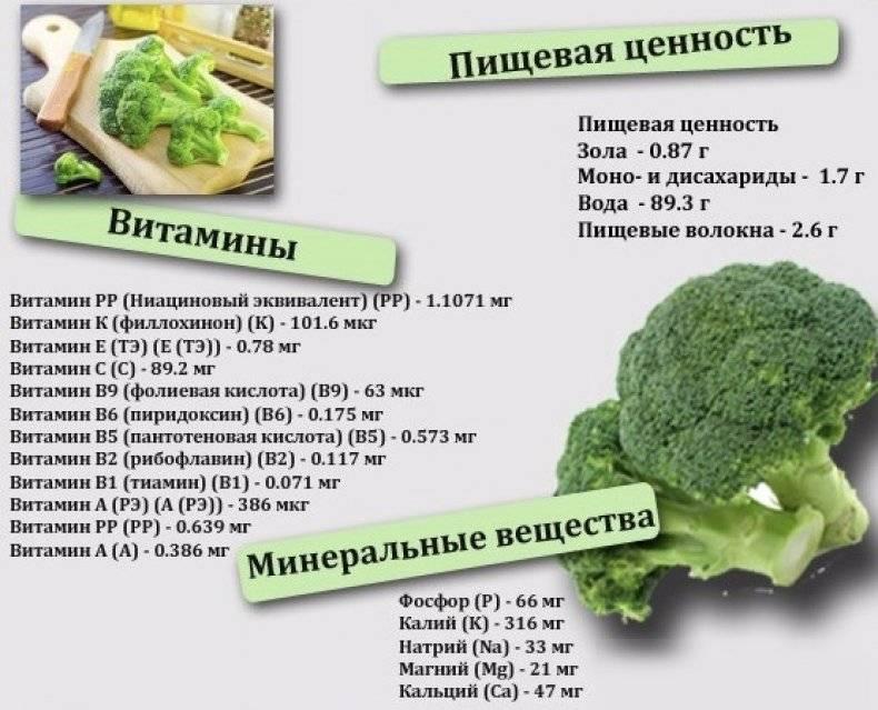 Брокколи, польза и вред для здоровья человека