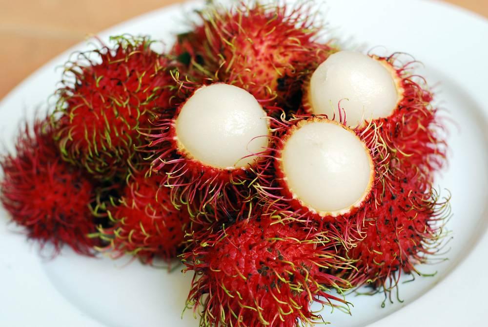 Рамбутан: описание фрукта, полезные свойства, состав, противопоказания