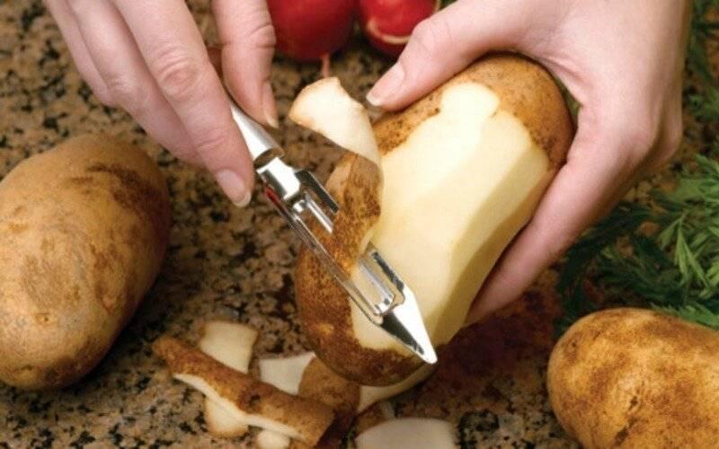 Как чистить картофель. чистим картофель быстро и правильно.