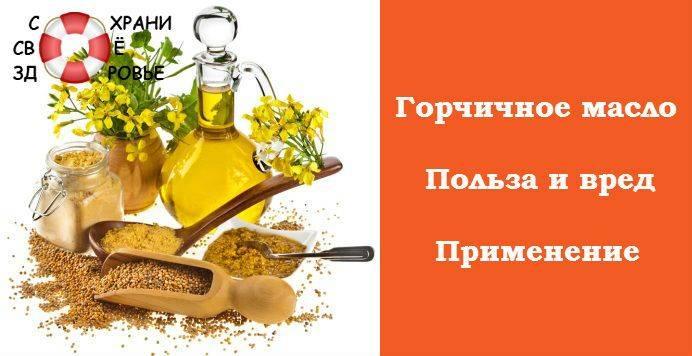 Горчичное масло польза и вред для здоровья организма