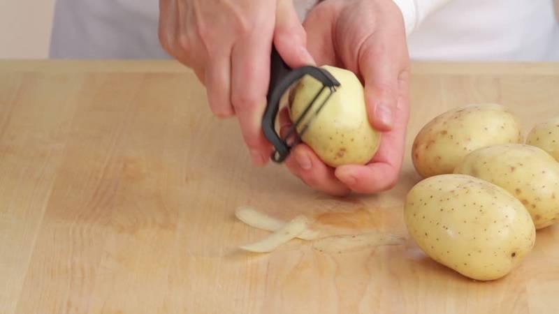 Как почистить картошку дрелью