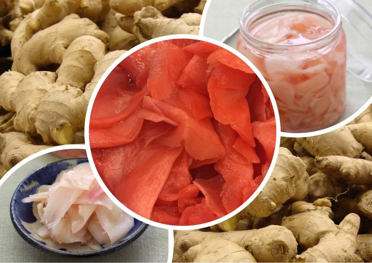 С чем едят маринованный корень имбиря, кроме суш ?