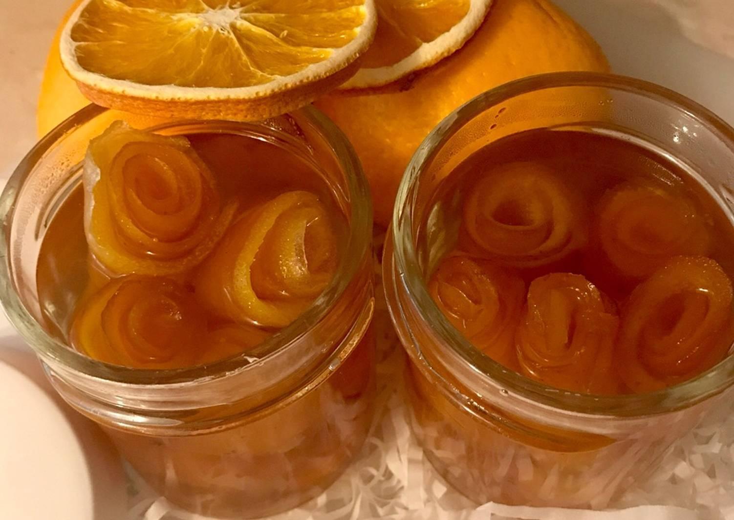 Варенье розовое с апельсином