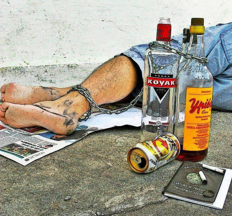Пьяный человек без сознания