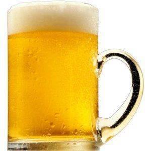 Кружка светлого пива с пеной