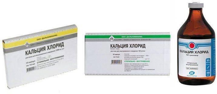 Разные упаковки препарата Кальция Хлорид