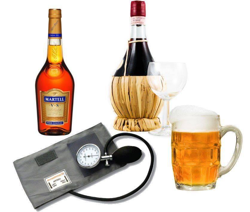 Повышенное или пониженное давление: какой алкоголь можно пить?