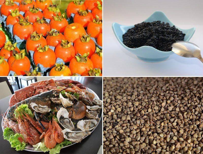 Источники йода — гречка, икра и другие продукты