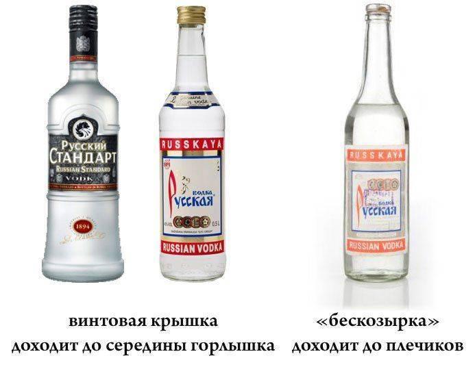 Как налита водка