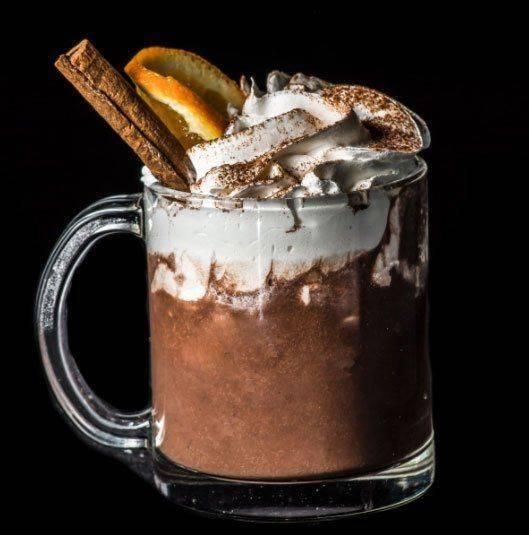Красиво оформленное какао