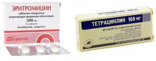 Эритромицин, Тетрациклин