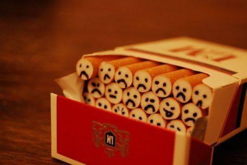 Грустные сигареты в пачке