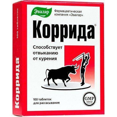 Коррида — таблетки для отказа от курения