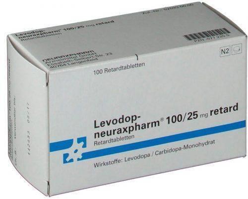 Упаковка Леводопа