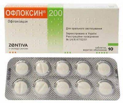 Антибиотик Офлоксин