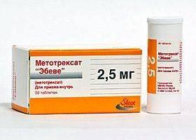 Препарат Метотрексат 2,5 мг