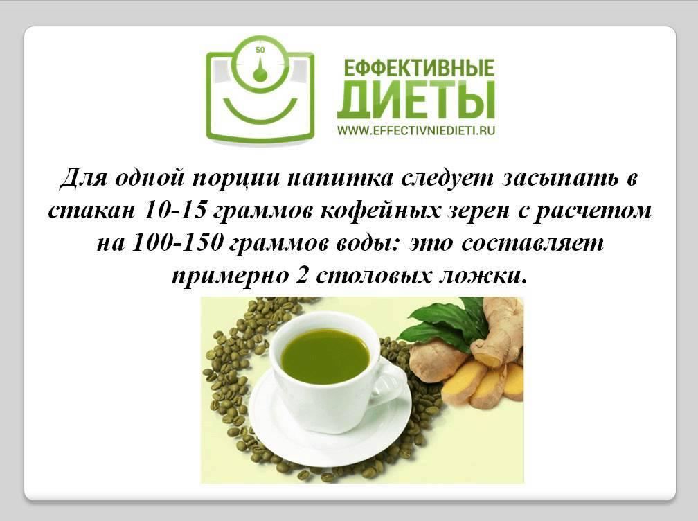 Зеленый кофе – состав, польза и вред