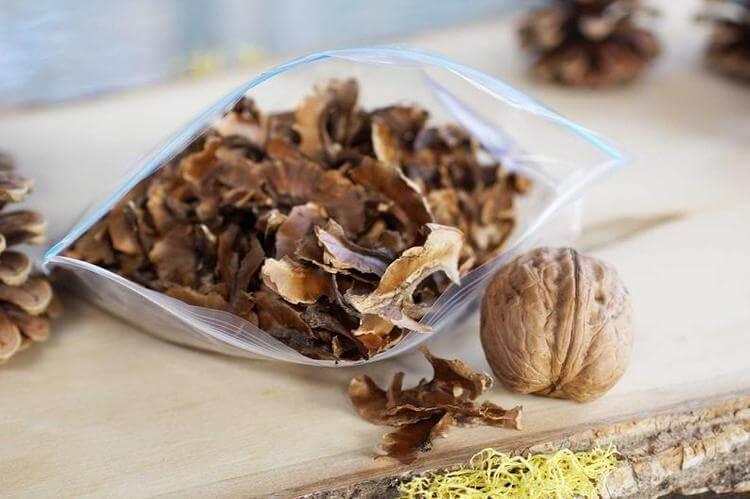 Применение перегородок грецкого ореха