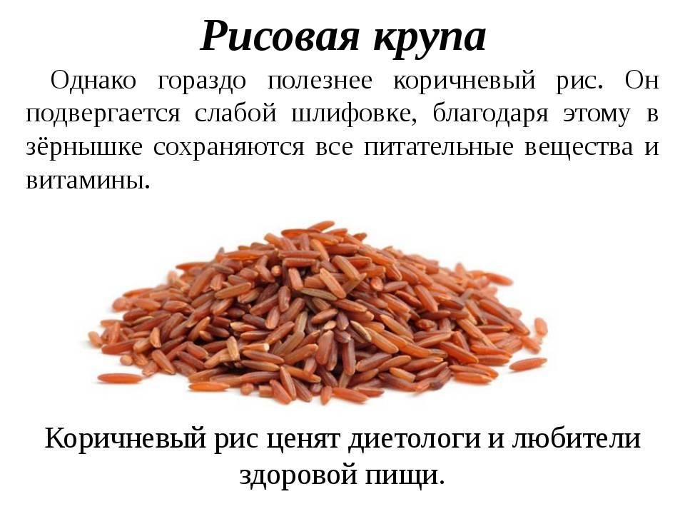 Бурый рис: калорийность, польза и вред, рецепты