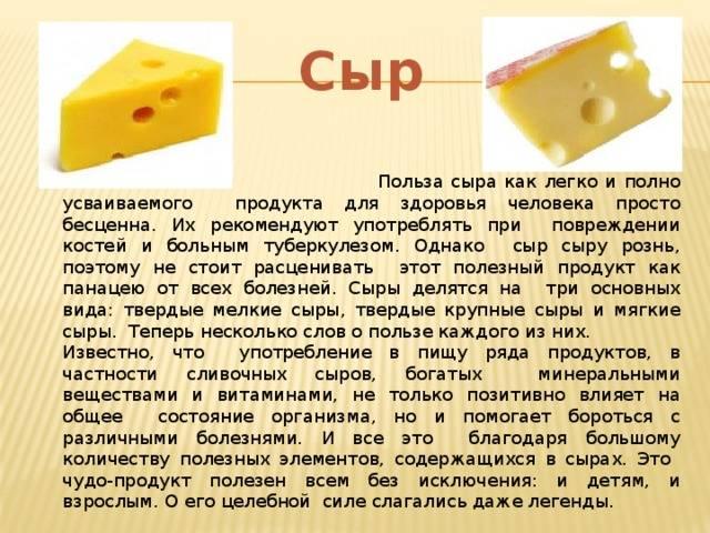 Плавленый сыр польза и вред