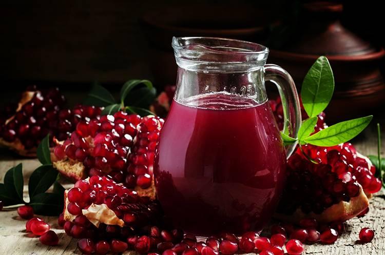 Гранатовый сок — польза и вред для организма