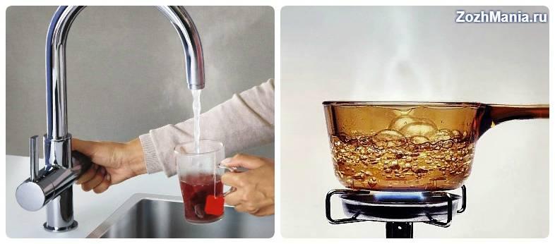 Кипяченая и сырая вода польза и вред