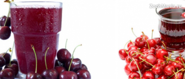 Как приготовить сок вишни: польза и вред, рецепты напитка