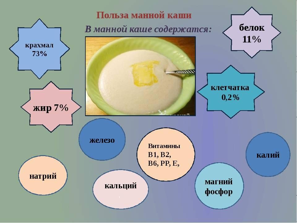 Манка: польза и вред крупы для организма взрослых и детей