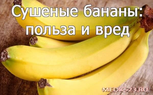 Сушеные бананы — польза и вред для организма