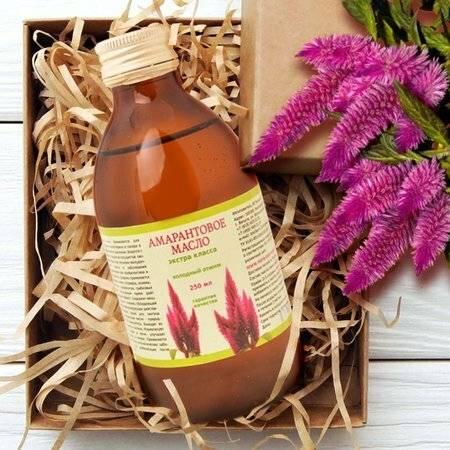 Амарантовое масло—польза и вред. свойства и применение