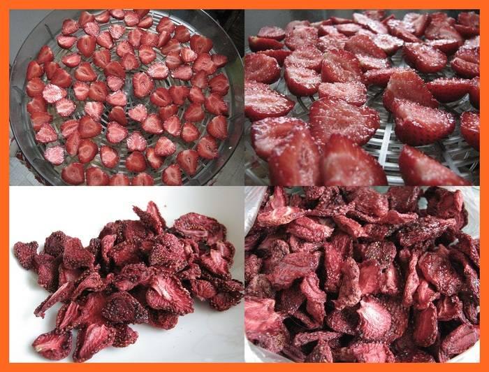 Сушеная (вяленая) клубника: калорийность, польза, как сушить, рецепты, применение