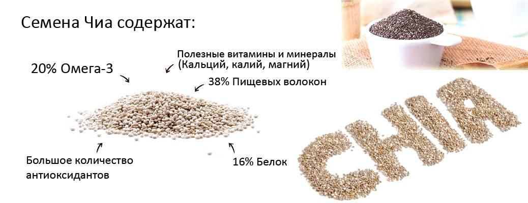 Польза и вред семян чиа при похудении