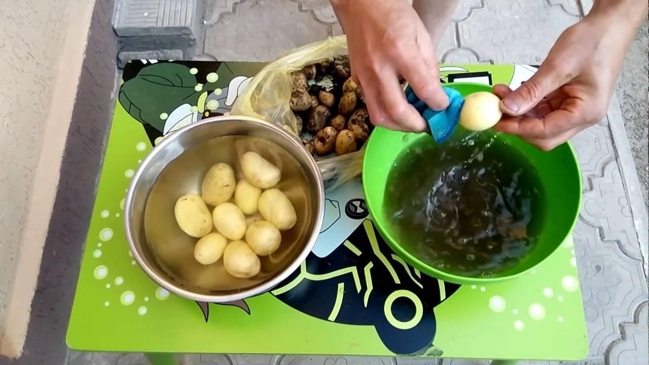 Как быстро и легко почистить картошку