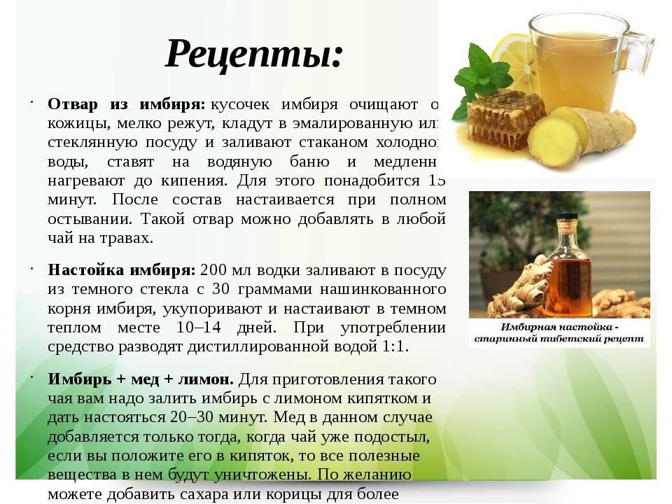 Имбирный чай — польза и вред