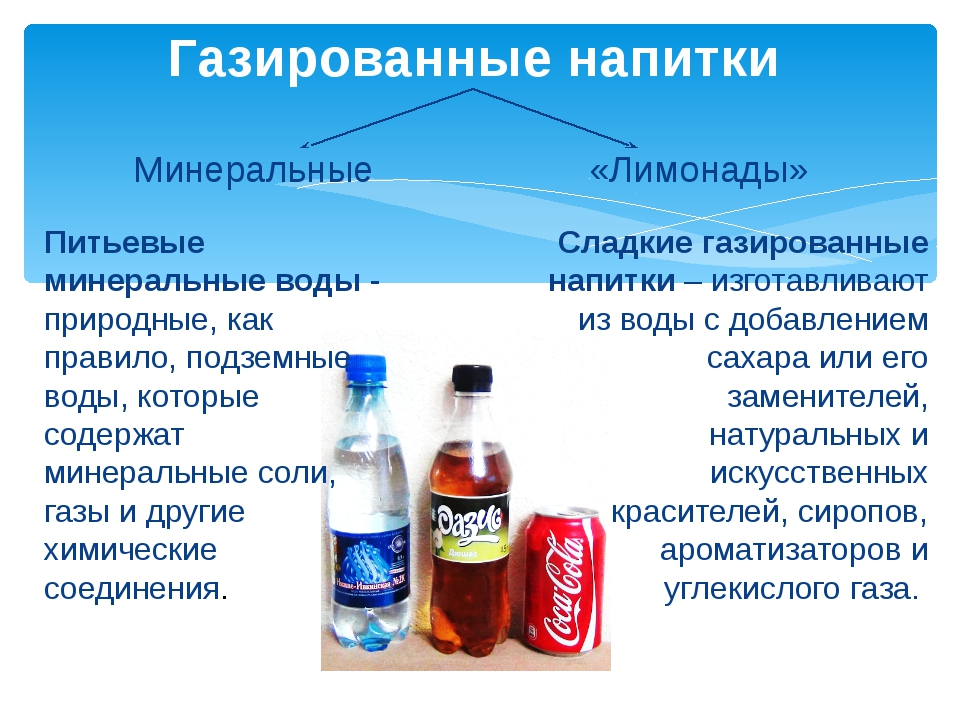 Чем полезна и вредна газированная вода для человека