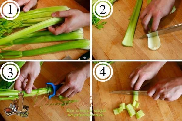 Как почистить сельдерей стебель