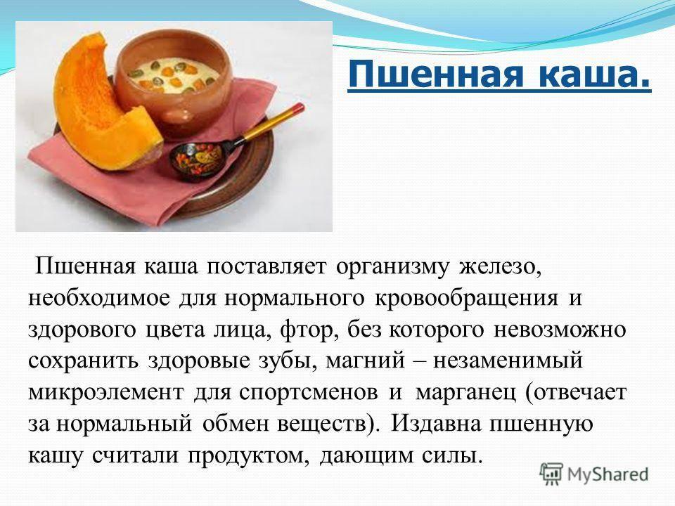 Кому нельзя есть пшенную кашу. пшено — полезные свойства. калорийность пшенной каши