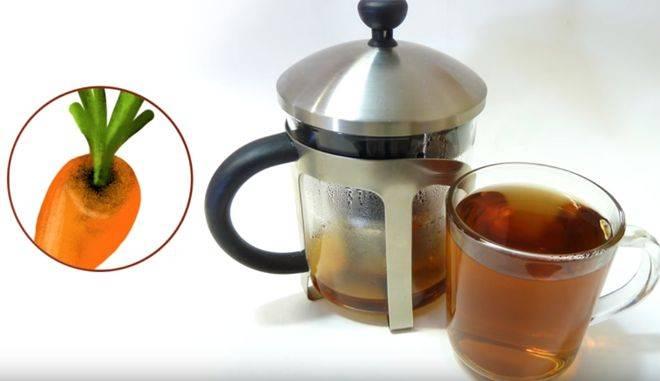 Морковный чай — полезный напиток из моркови и ее ботвы