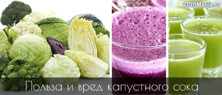 Капустный сок: обсудим полезные свойства и противопоказания к употреблению лечебного напитка