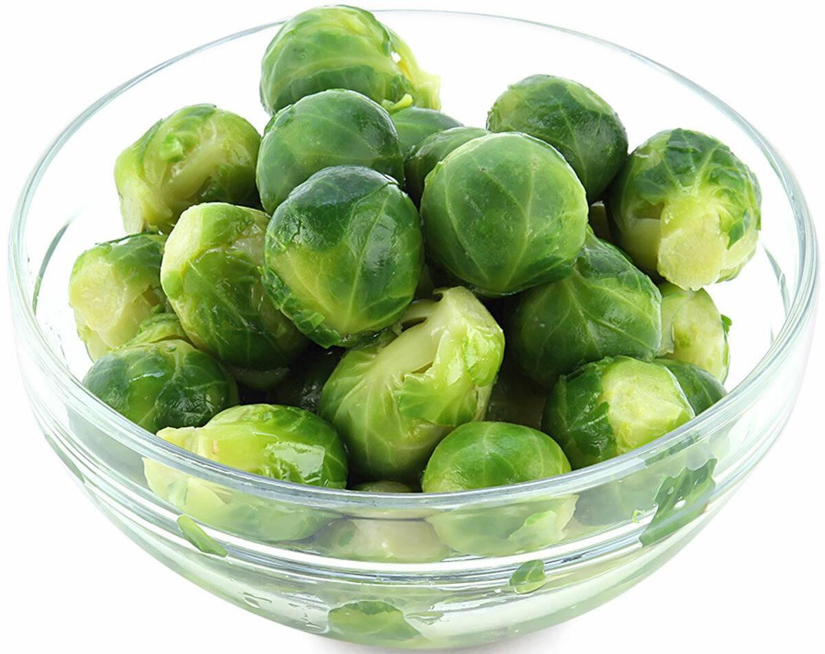 Брюссельская капуста: польза и вред для организма, в частности, ценность для здоровья женщин, состав и калорийность на 100 грамм продукта, а также противопоказания