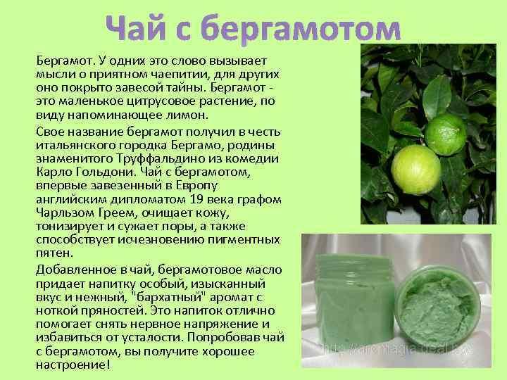 Чай черный с бергамотом польза и вред