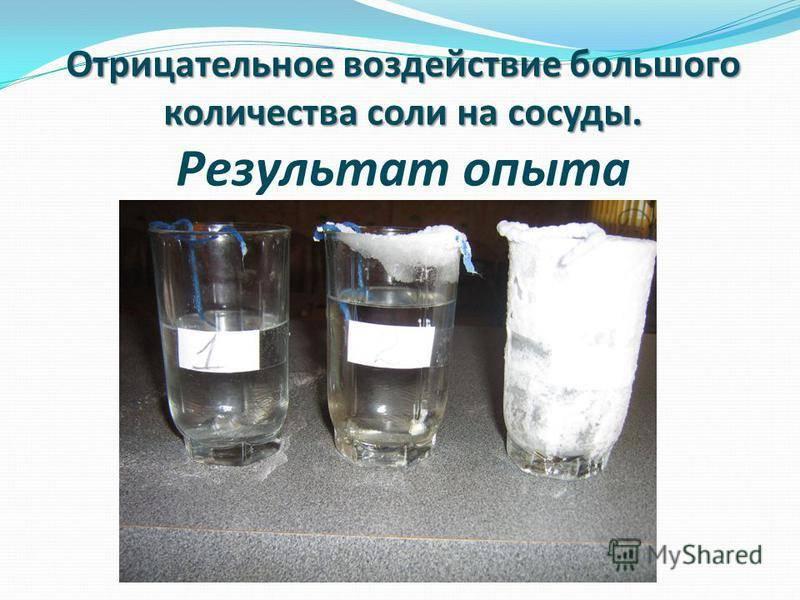 Об избытке соли в организме и последствиях этого