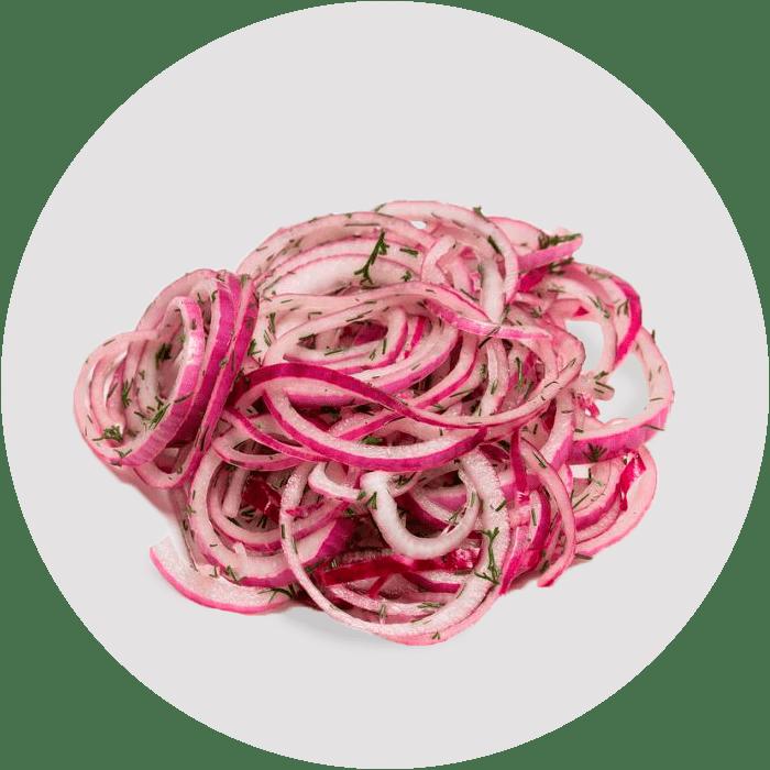 Маринованный красный лук: рецепт с фото