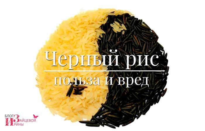 Черный рис: полезные свойства и противопоказания