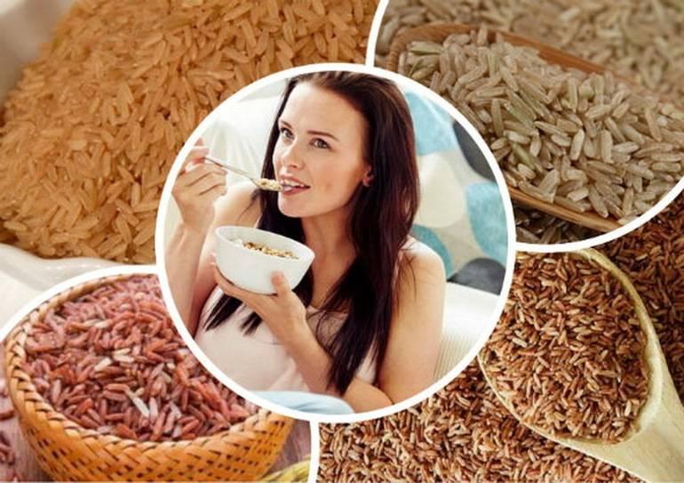 Белый и бурый рис: польза и вред