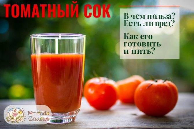 Томатный сок: польза и вред, диета на томатном соке